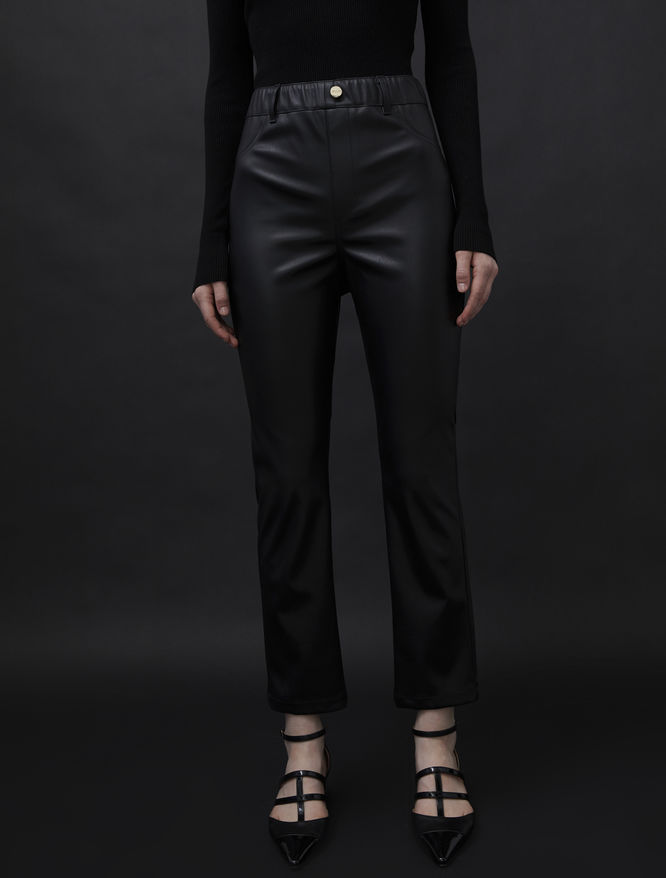 Leather-look trousers iBlues