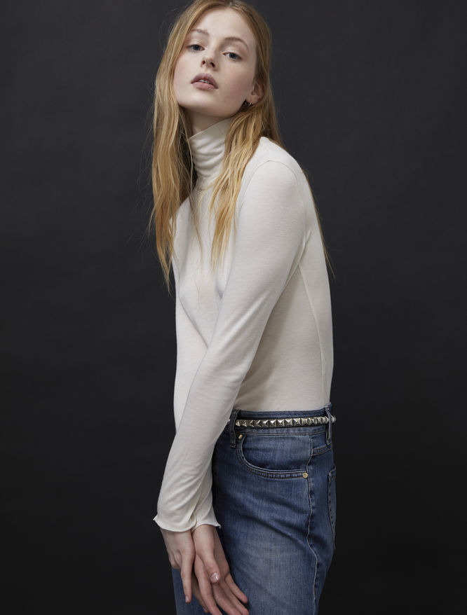 Cashmere-blend polo-neck sweater iBlues