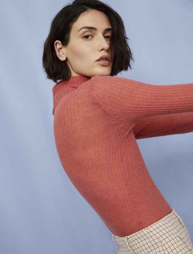 Relaxed-fit polo-neck sweater iBlues