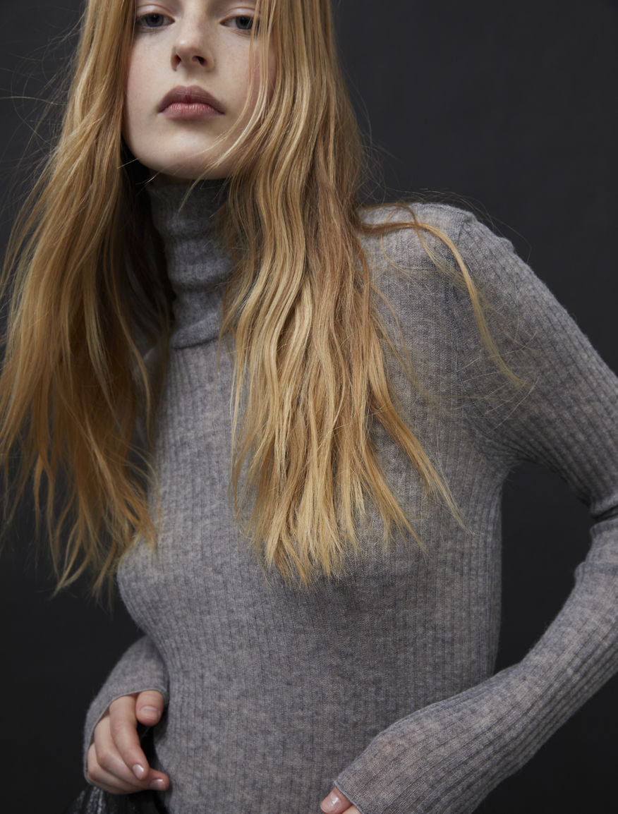 Relaxed-fit polo-neck sweater